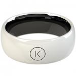 White Jet K Ring